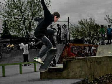 Image modification for skater