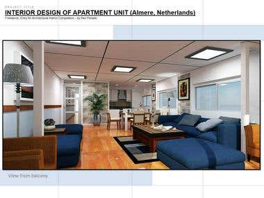 Interior Design of Apartment (Competition Entry)