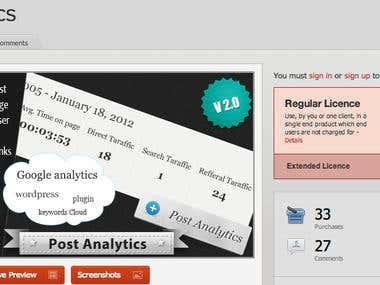 Post Analytics | Wordpress plugin