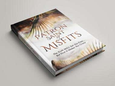 Patron Saint of Misfits - book cover and illustrations