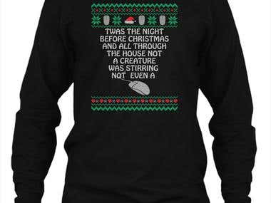 Christmas sweater and tshirt design 2018