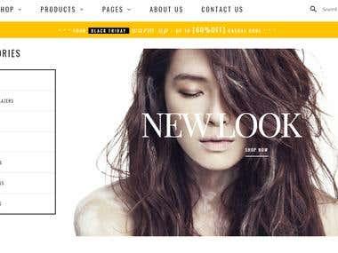 Fashion E-commerce website