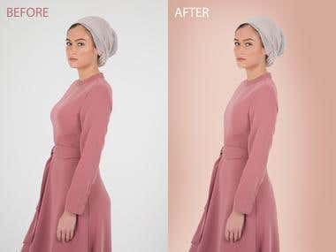 Photo Retouching, Background color changing