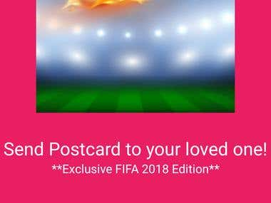 FIFA Postcard Sending App