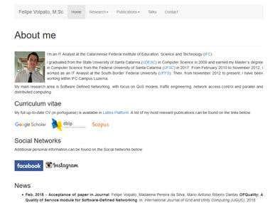 CV personal website