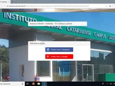 Network Access Captive Portal with Social Login