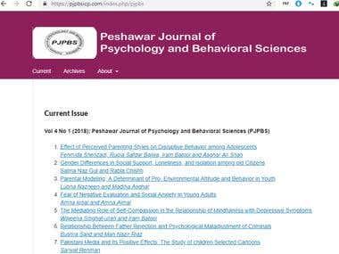 Peshawar Journal of Psychology