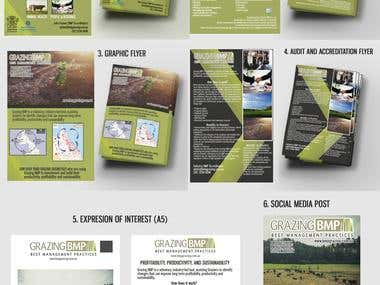 6 Flyers products for a Grazing Company