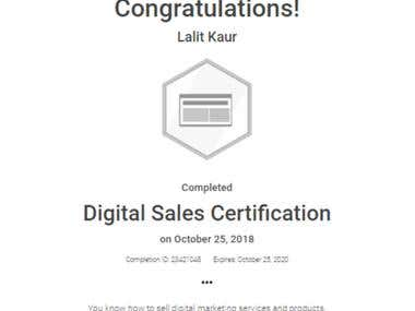 Digital Sales Certification