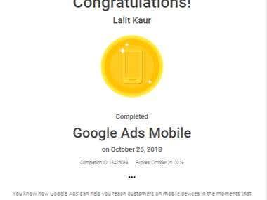 Google Ads Mobile Certification