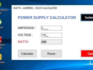 Watts Amperes Volts