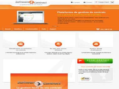 Prestashop webstore for contract management software