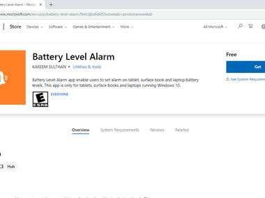 Battery Level Alarm - Microsoft Store App (UWP)