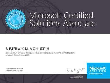 Microsoft Certified Solution Associate