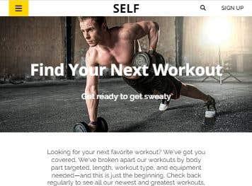 Self web template