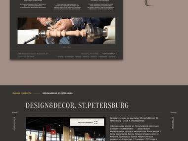 Website for an elite furniture workshop
