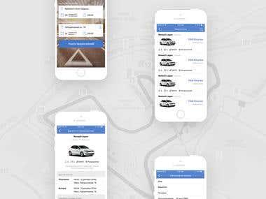 IOS app for a car rental company