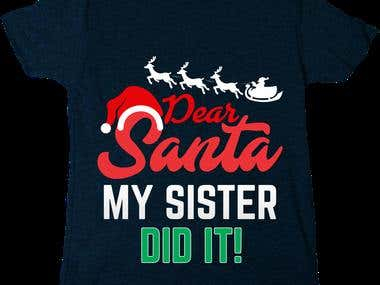 Santa New Shirt Mokeup
