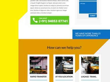 Taxi Cab Booking Website