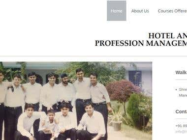 Dynamic responsive website for an Educational Institution