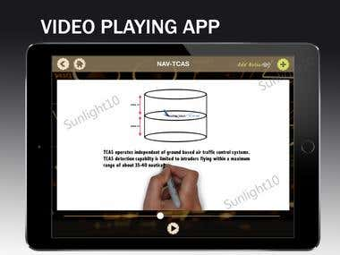 Video Playing Educational App