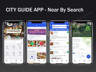City Guide App, Restaurants and bars nearby