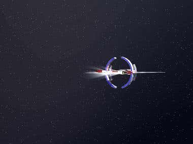 Asteroid belt animation
