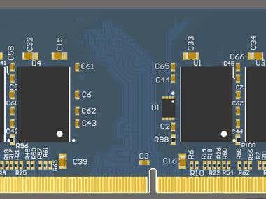 PCB design - SDRAM BGA