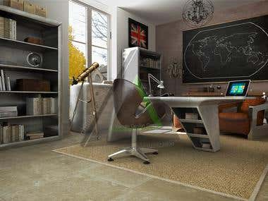3D realistic furniture visualization