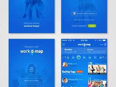 iPhone UI design