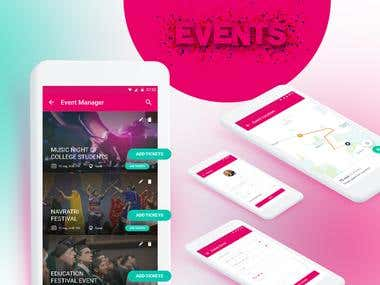 Event Management app : UX/UI Design
