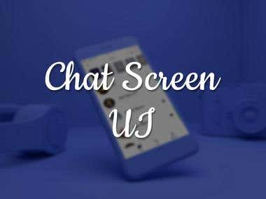 Chat Screen : UX/UI Design