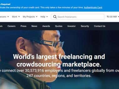 Winning Entry for Freelancer.com Usability Testing Contest