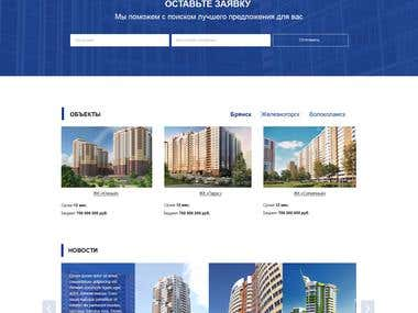 Corporate website for the construction company