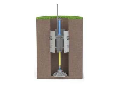 Stamp for soil density test.