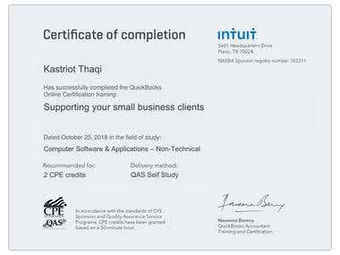 Quickboks Online Certification