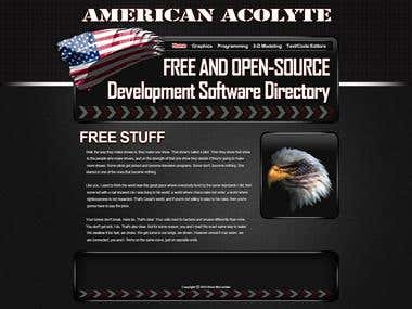 American Acolyte Website Redesign