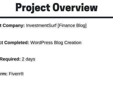 WordPress Blog Creation