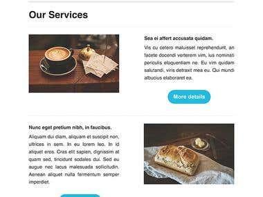 Newsletter design/coding