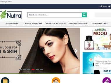 Ecommerce - Simply Nutra