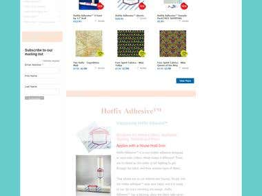 WordPress Shop Website.. (http://www.hotfixfabric.com/store)