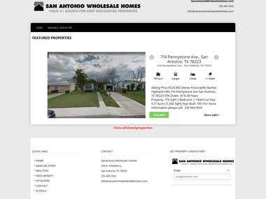WordPress Website.. (http://sanantoniowholesalehomes.com)