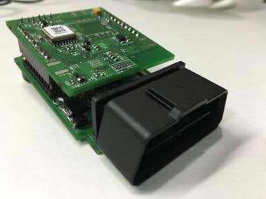 OBD-II device with BLE, GPS and GSM
