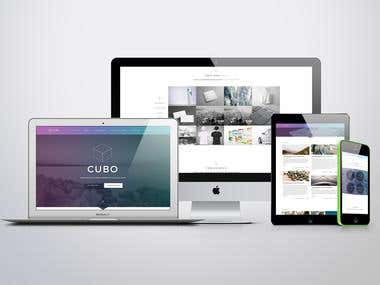 CUBO THEME DESIGN PSD to HTML
