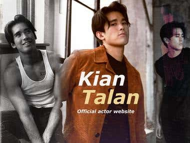 Banner for actor Kian Talan