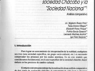 Anthropology: reports, papers and publications [spanish]