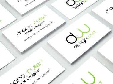 Designwud business card design