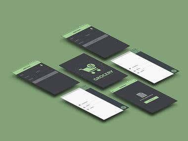 Grocery Mobile app design concept