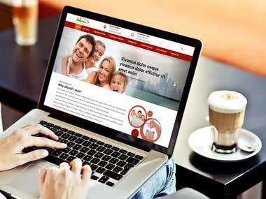 Namfisa website UI/UX HTML development