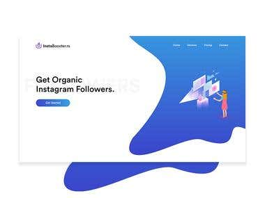 InstaBooster.rs Website Design